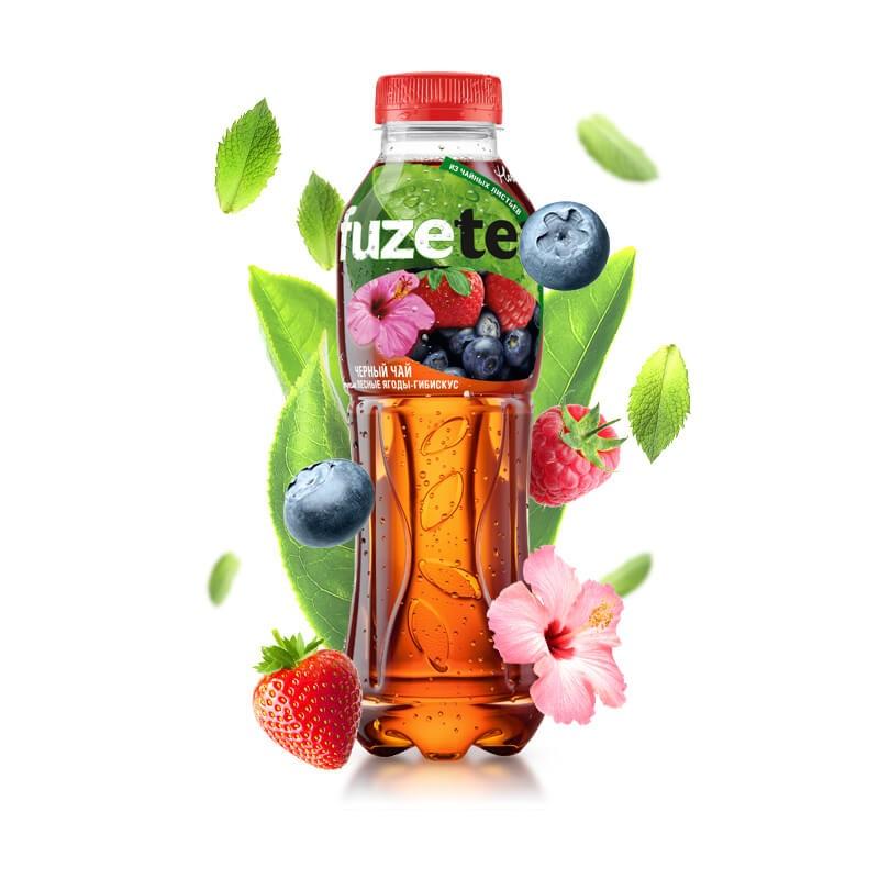 FUZE TEA 0.5L (Лесные ягоды - гибискус)